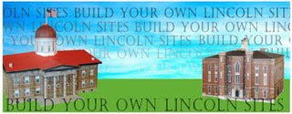 Abraham Lincoln Papercraft Buildings