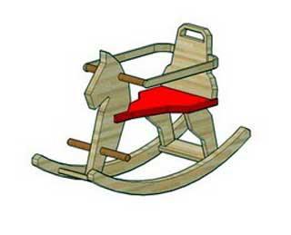 Rocking Horse Papercraft