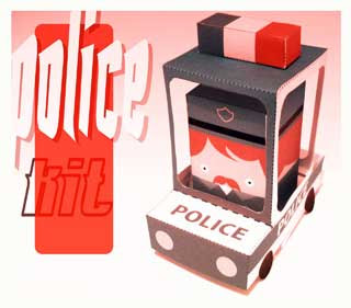 Police Kit Paper Toy