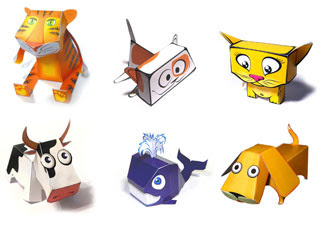 Cartoony Animal Papercrafts