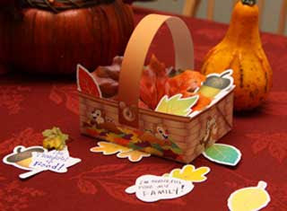 Chip and Dale Thanksgiving Basket Papercraft