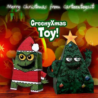 Grinch Christmas Tree Papercraft
