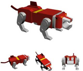 Voltron Red Lion Papercraft
