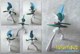 Pokemon Gallade Papercraft