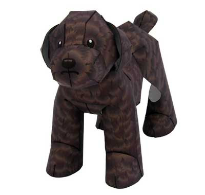 Chocolate Toy Poodle Papercraft