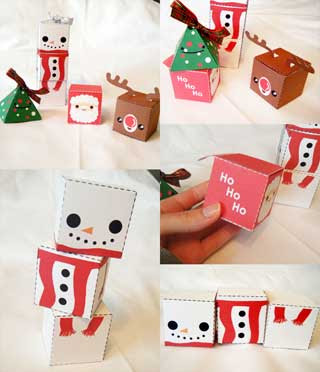 Christmas Gift Box Papercrafts