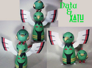 Pokemon Xatu Natu Papercraft