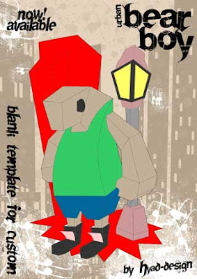 Urban Bearboy Paper Toy