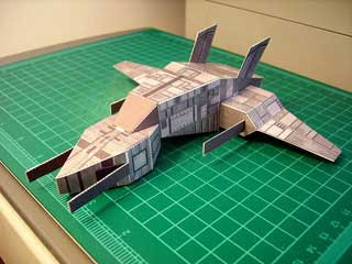 Thorium Wars Utu Skyfighter Papercraft
