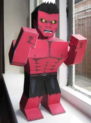 Rulk Red Hulk Papercraft