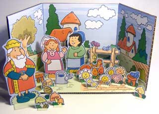 Anna Flower Garden Papercraft Diorama