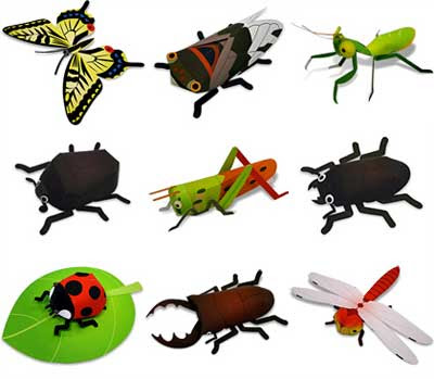 Fuji Xerox Insect Papercrafts