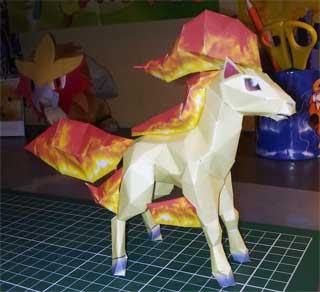 Ponyta Papercraft