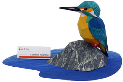 Common Kingfisher Papercraft