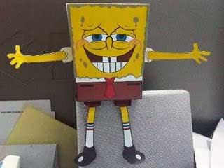 Toothy Grin SpongeBob Papercraft