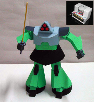 Moving Battle Robot Papercrafts