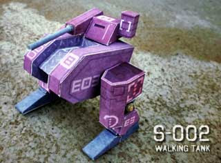 S002 Walking Tank Papercraft