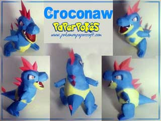 Pokemon Croconaw Papercraft
