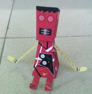 Frankenstrat CreArture Paper Toy
