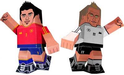 Pesadilla Villa & Miro CLose Paper Toys