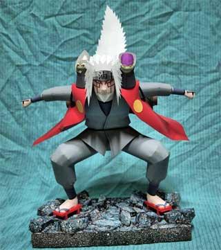 Naruto: Sage Mode Jiraiya Papercraft ~ Paperkraft.net - Free