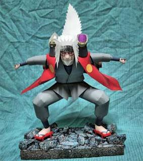 Naruto Sage Mode Jiraiya Papercraft