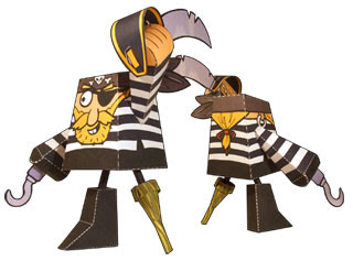 Pesky Pirate Papercraft