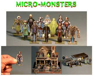 Micro Monsters Papercraft
