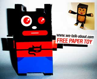 Paper Boy & Monster Box Paper Toys