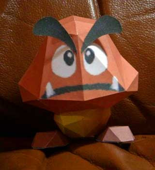 SM64 Goomba Papercraft