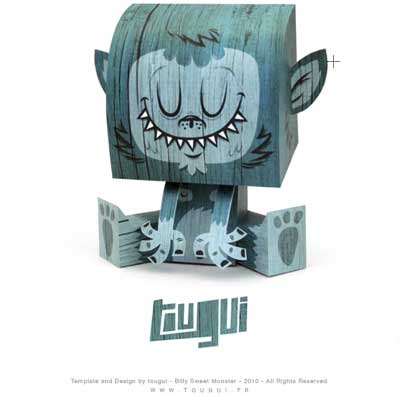 Billy Sweet Monster Paper Toy Tougui