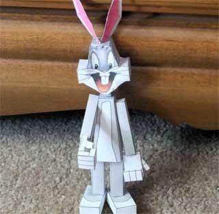 Bugs Bunny Papercraft Paperkraft Net Free Papercraft