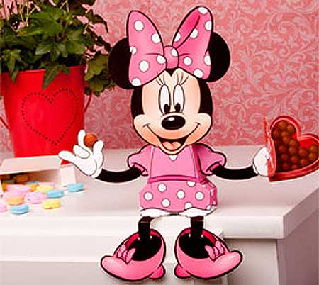 Minnie Mouse Valentine S Day Candy Box Papercraft
