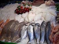 pescado en el restaurante El Peixet de l'Hospitalet