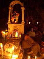 noche de muertos en la Isla Janitzio. Patzcuaro