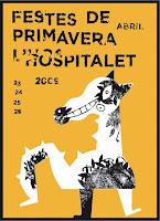 cartel de las Fiestas de Primavera de l'Hospitalet 2009