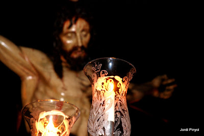 El Cristo de la Expiación, uno de los pasos de las procesiones de l'Hospitalet, foto de Jordi Pinyol