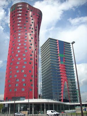las torres fira. Foto Bloghospitalet, Xavi Masip