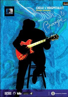 cartel del ciclo blues & Boogie de l'hospitalet de llobregat