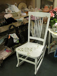 Stenciled white rocker