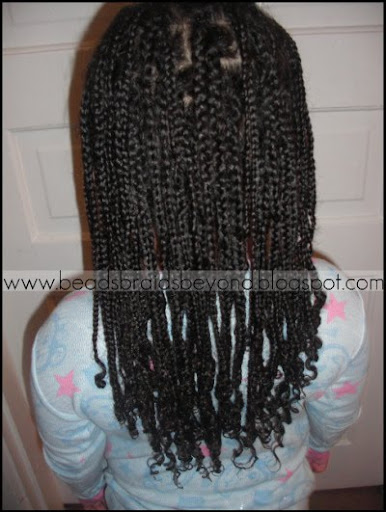 (Week old) Wet box braids after washing. Sunday night we did the following: