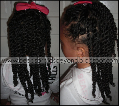 Site Blogspot  Twists Hairstyles on Beads  Braids And Beyond  Chunky Two Strand Twists