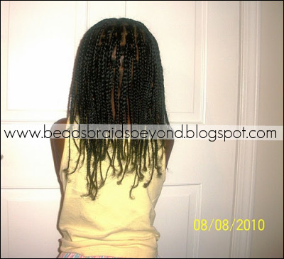 Day 1: Freshly done box braids.