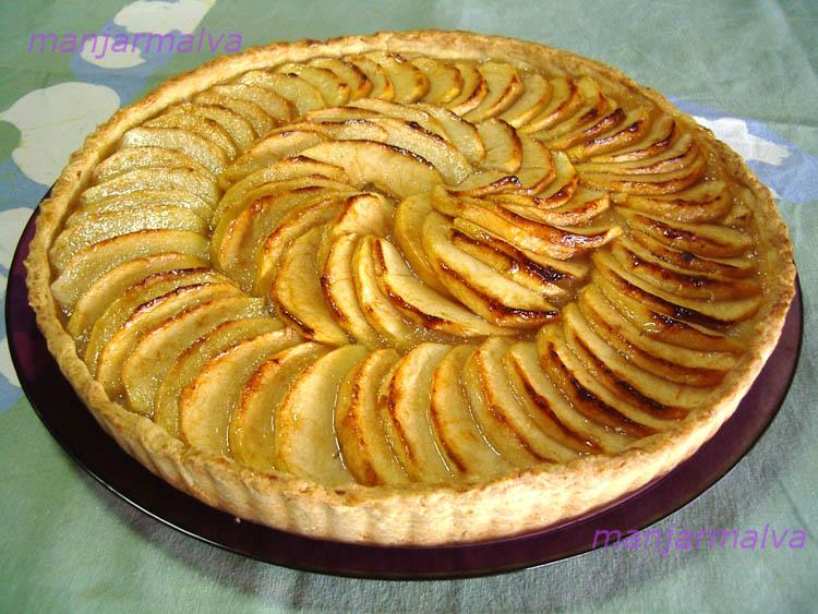como hacer un kuchen de manzana