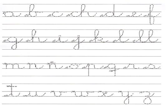 Caligrafia abecedario cursiva - Imagui