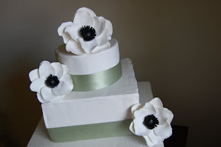 black and white cake picture anemone