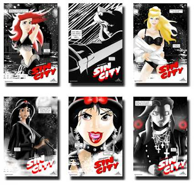 Disney's Princesses recast as characters in Frank Miller's Sin City