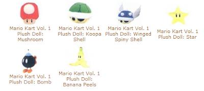 Plush Mario Kart weapons