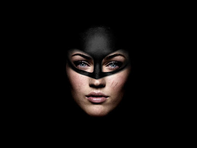 Megan Fox as Catwoman desktop wallpaper, made with an image found here.