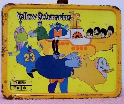 Yellow Submarine lunch box at